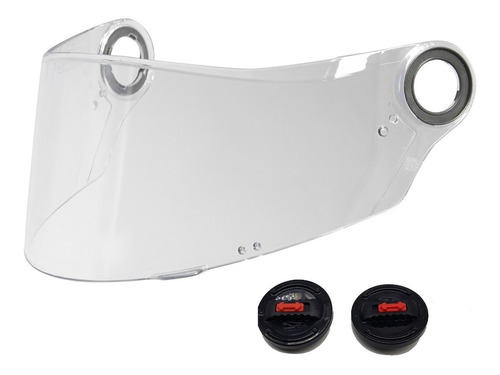 viseira ls2 para capacete ls2 ff358 com trava + botão reparo