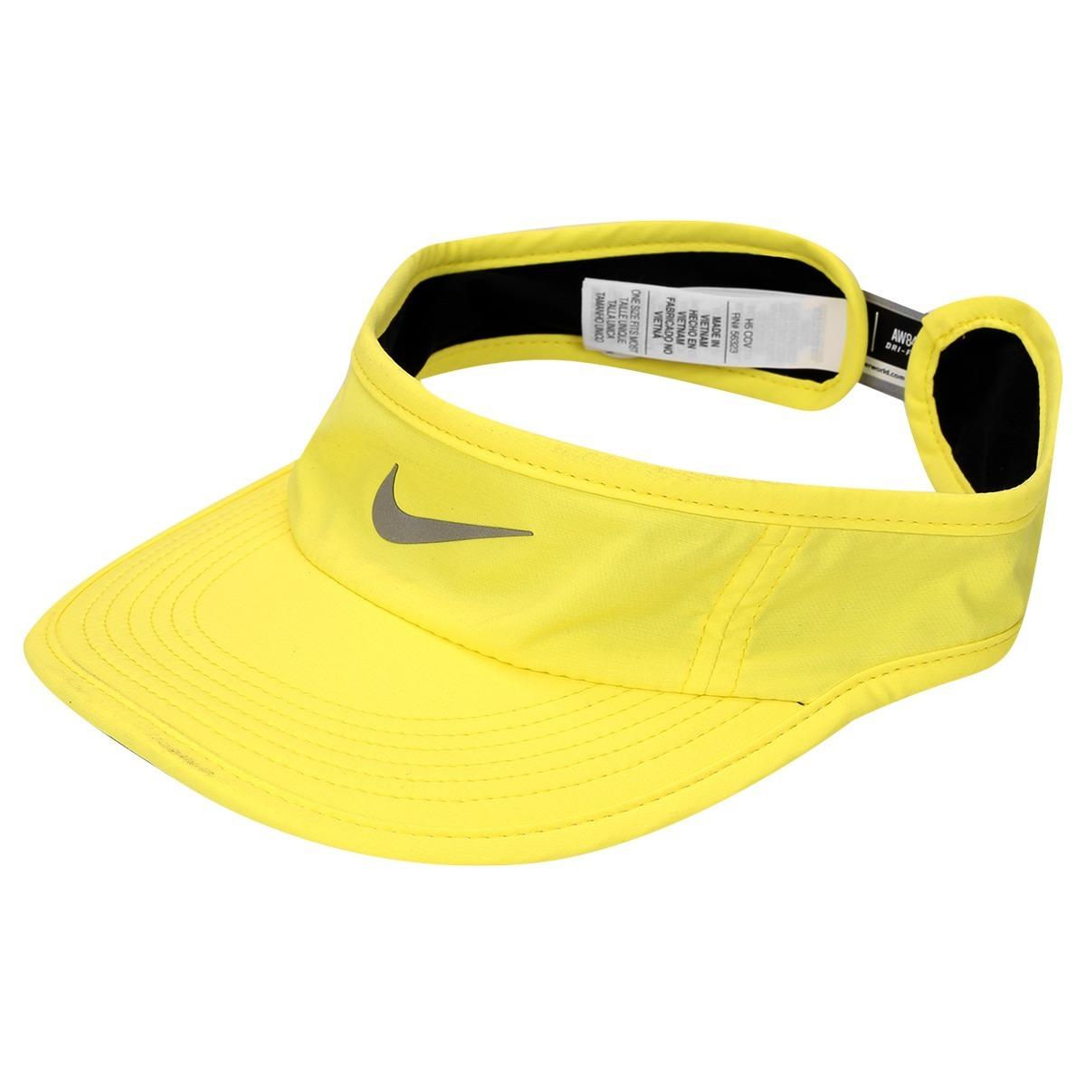 b4da0e08ed500 Viseira Nike Aw84 Dri-fit (original) Amarela  corrida  fit - R  134 ...