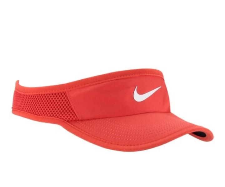 cbfbe4a31e793 Viseira Nike Featherlight Dri Fit Original Vermelha - R  90