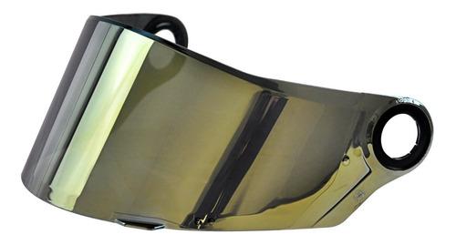 viseira original capacete ls2 modelo ff358 dourada