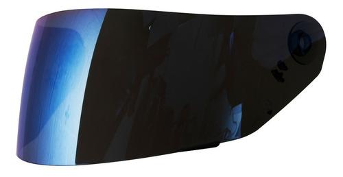 viseira original para capacete norisk ff302 iridium azul