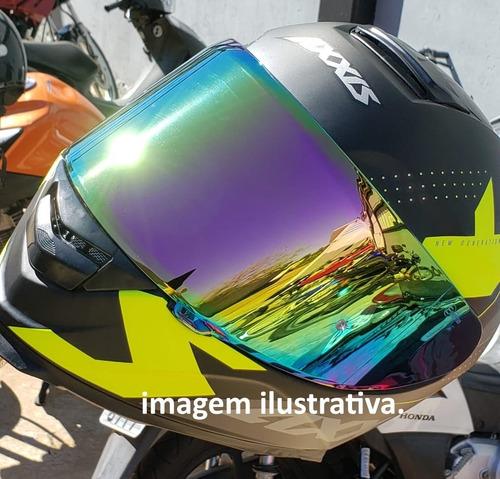 viseira para capacete axxis eagle iridium camaleão