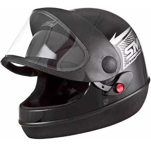 viseira para capacete sm pro tork / gow cristal 1 pecas