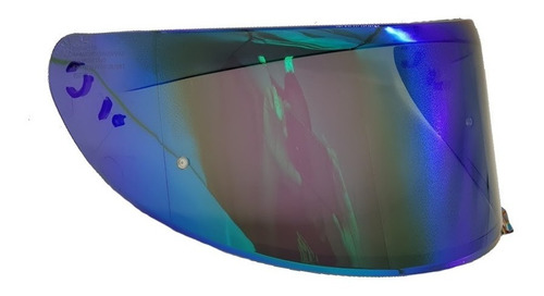 viseira revo v18b verde rainbow para capacete axxis