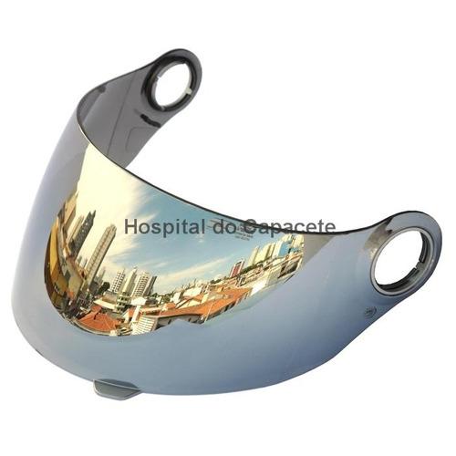 viseira shark s500 / s500 air / rsf2 / rsf3 espelhada prata