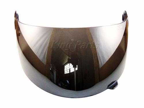 viseira visor 2.2 cromado polivisor - shark s500 air rsf 21