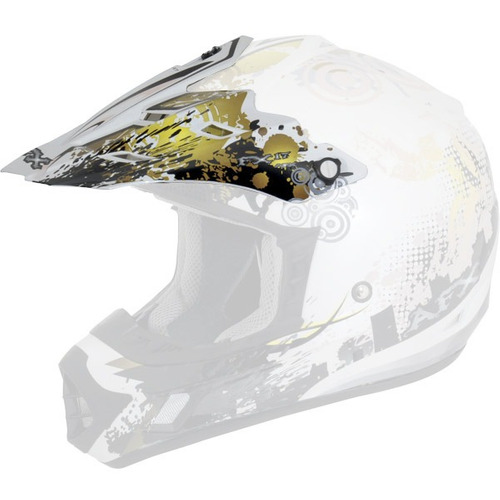 visera afx p/mod. fx-17y stunt youth mx peak-2011, amarillo