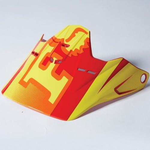 visera fox racing v1 imperial 2015 juvenil rojo/amarillo