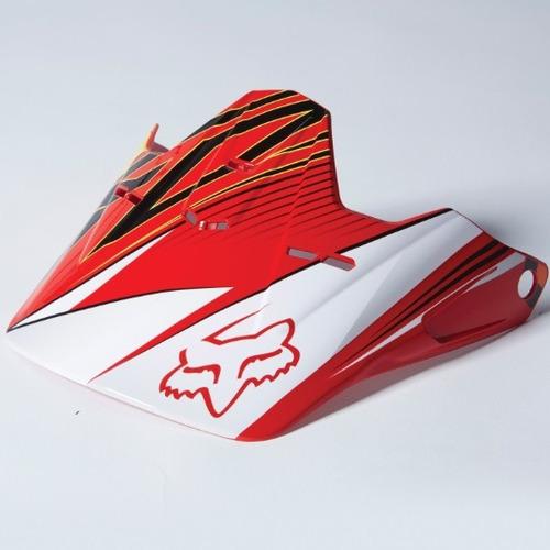 visera fox racing v1 radeon 2014 juvenil rojo/amarillo
