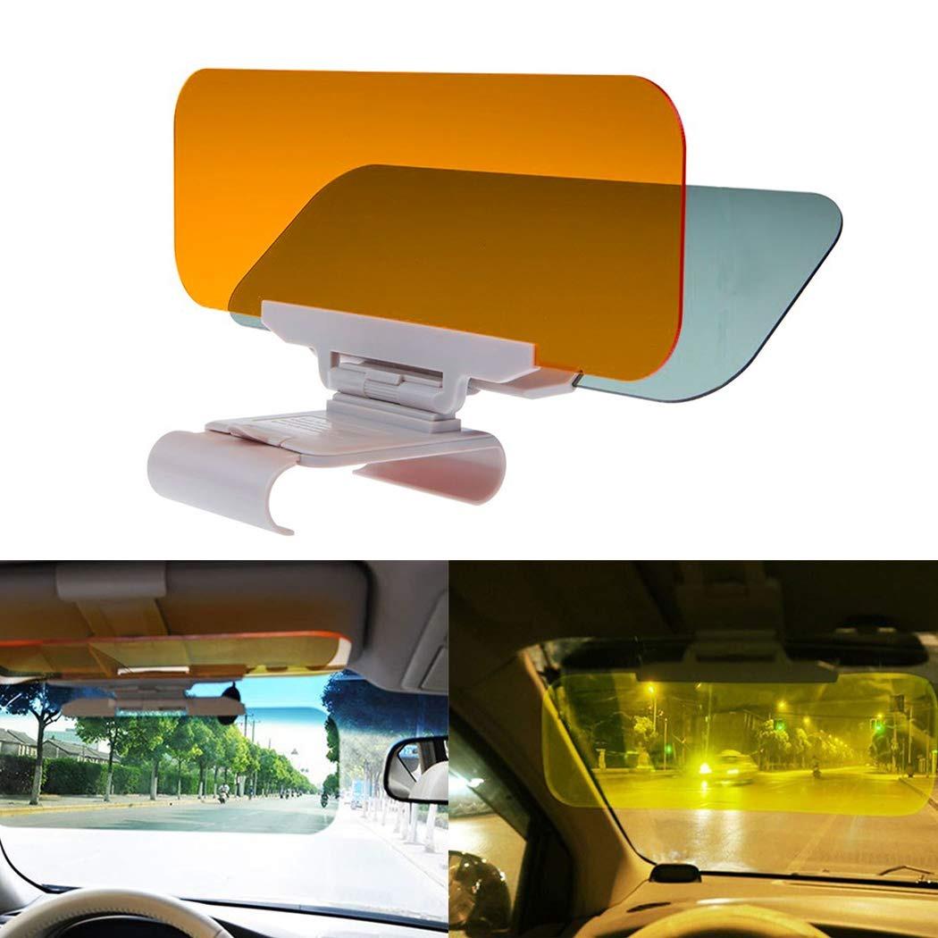 sensación cómoda mejor online múltiples colores Ggienrui Visera Parasol Para Automóvil 2 En 1 Visera Para...