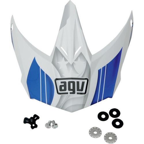 visera p/casco agv ax-8 evo repuesto flagstar azul