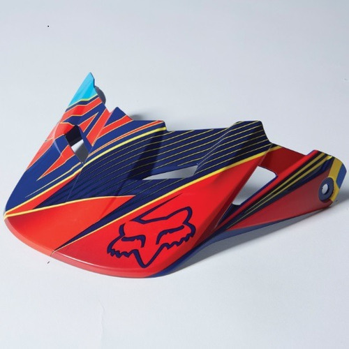 visera p/casco fox racing v1 radeon 2014 azul xl/2xl