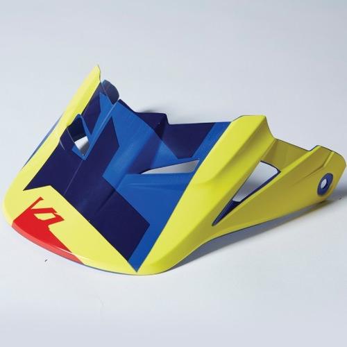 visera p/casco fox racing v1 vandal 2015 amarillo azul md/lg