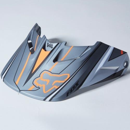 visera p/casco fox racing v4 race 2014 gris naranja