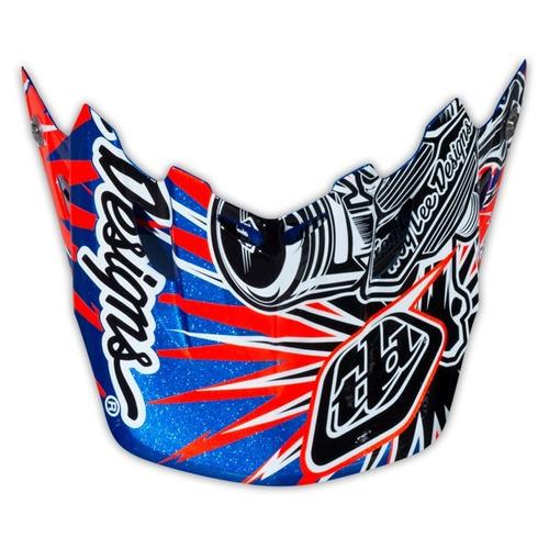 visera troy lee designs se3 piston repuesto azul/negro/rojo