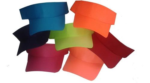 viseras deportivas cantidades y colores para bordar estampar