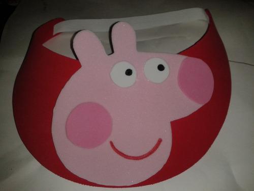 viseras peppa pig, fiesta infantiles,gorros