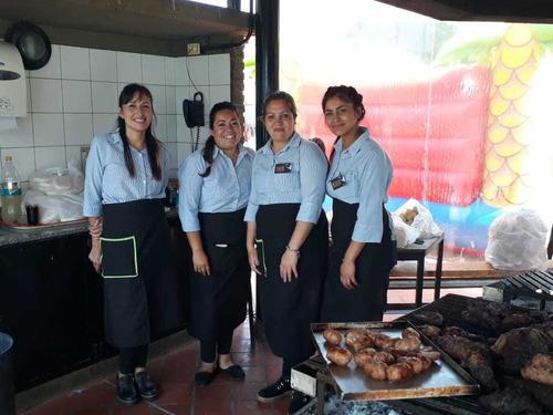 vision camareras .personal de cocina y camareras y parriller
