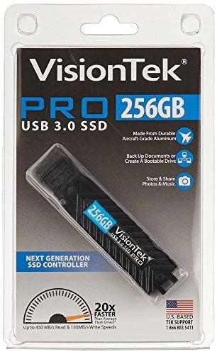 visiontek 256gb usb 30 ssd pro hasta 450 mbs leer 155mbs esc