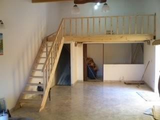 visita a obra para entrepisos escaleras barandas