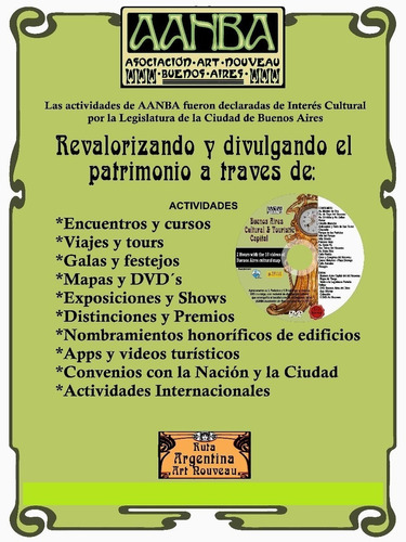 visita en vivo 3 edificios íconos argentinos +poster general