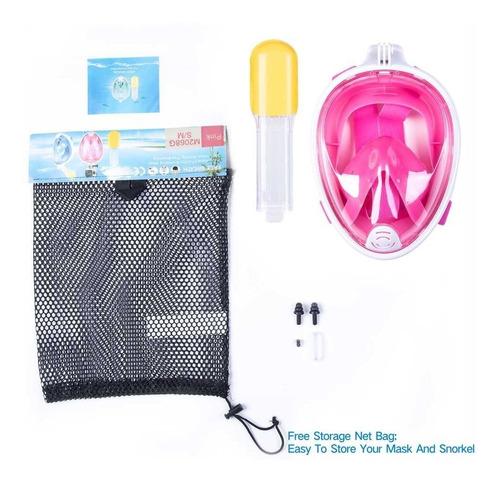visor 180° panoramic full face snorkel/diving mask anti-fog