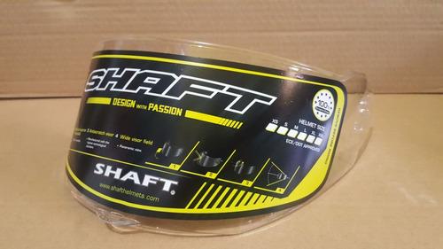 visor casco shaft 530 transparente y humo (polarizado)