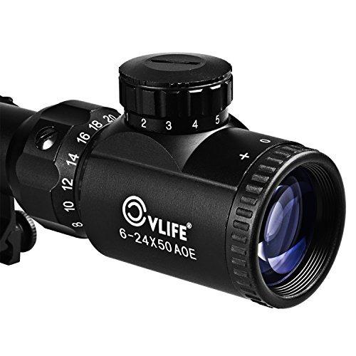 visor de caza cvlife optics rifle scope 6-24x50