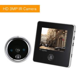Para La Seguridad del Hogar Mirilla Digital Inal/ámbrica Door Viewer con 3.5in HD Pantalla LCD C/ámara Digital /ángulo Amplio de 120/°