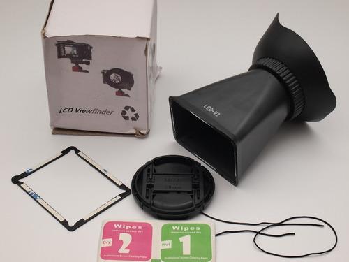 visor live view finder para canon - 60d- t3i mas tapa 58mm