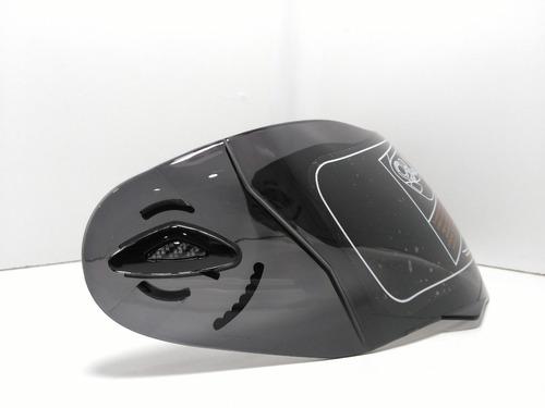 visor negro para casco moto abatibl arex 701 scooter shopper