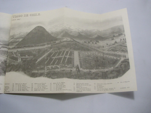 vista general santiago de chile 1867. encina castedo