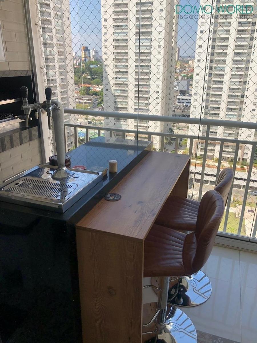vista p/ piscina - apartamento mobiliado no domo sbc - ap01947 - 34473605