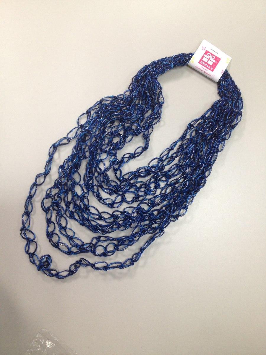 Vistosos Collares Espuma De Mar Tejidos A Crochet Bs 120 En
