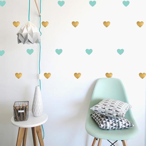 visual vinil decorativo corazón patrón textura pared sticker