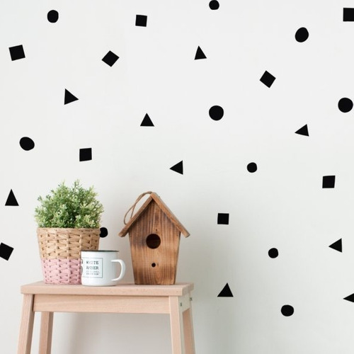 visual vinil decorativo geométrico textura pared sticker