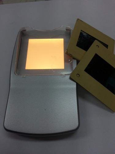 visualizador de slides negativos e positivos portatil