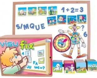 visufix pedagógico com 1 lousa e 307 peças