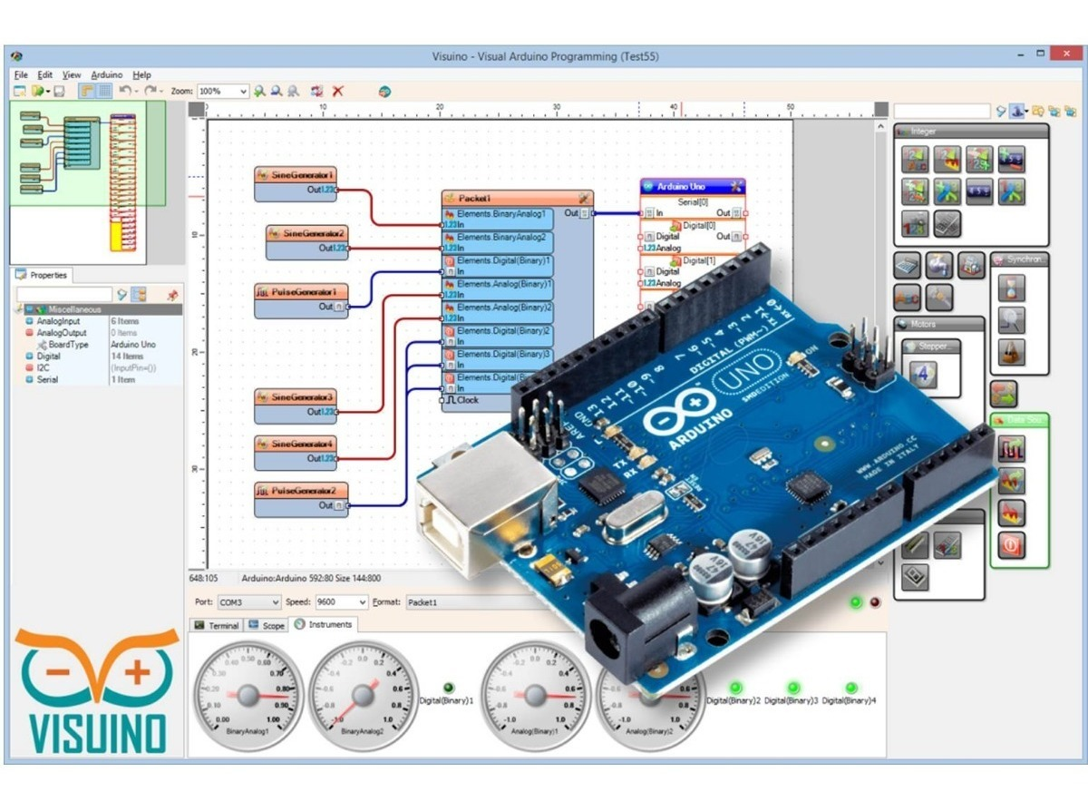 Visuino - Diseña Tus Proyec Y Circuito Para Placas Arduino - $ 130 00