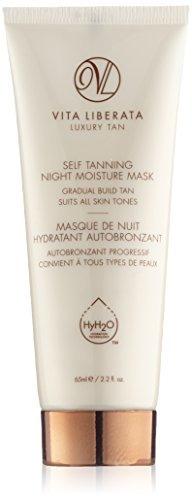 vita liberata self tanning night moisture mask, 2.2 fl. oz.