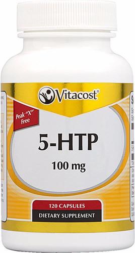 vitacost 5-hydroxytryptophan o 5-htp 100mg - 60 capsulas