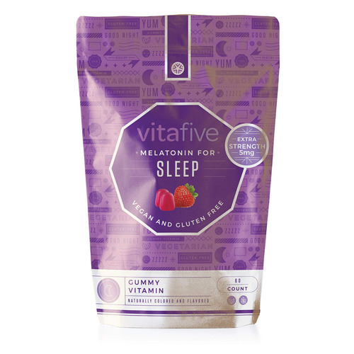 vitafive extra strength melatonin gummies - natural sleep