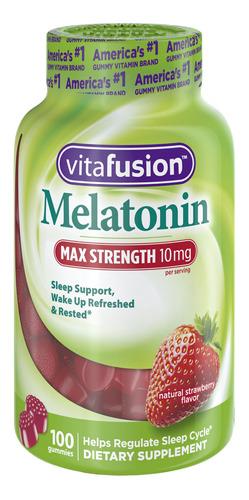 vitafusion max strength melatonin gummies, 100 ct