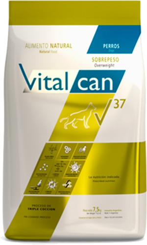 vital can v37 sobrepeso light 15k envio gratis ohmydog