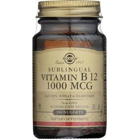 Vitamin B12 Sublingual - 1000 Mcg - 100 Pastillas