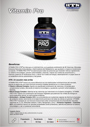 vitamin pro high tech nutrition