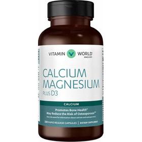 Vitamin World Calcium Magnesium Plus D3 250 Rapid Capsules