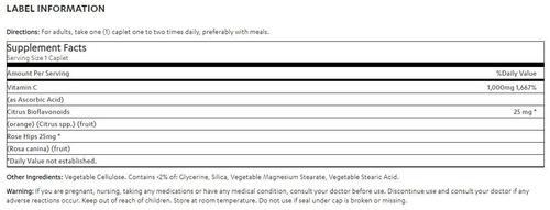 vitamin world vitamin c 1000 mg - 250 caplets
