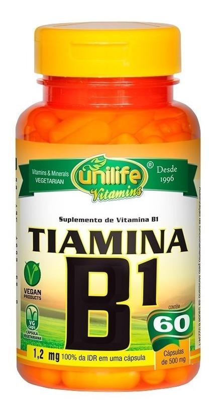 Vitamina B1 Tiamina 60 Cápsulas 500mg Unilife