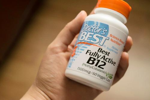 vitamina b12 1500mcg 60 cápsulas. doctor´s best import usa